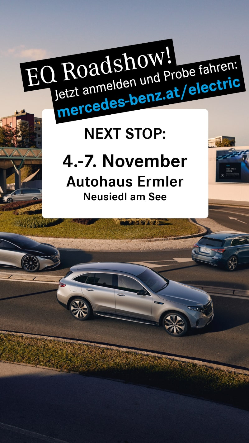 Ermler Mercedes-Benz EQ Roadshow 04. November bis 07. November