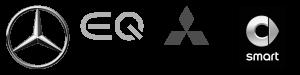 Ermler Logos - Mercedes Benz, EQ Electric Intelligent by Mercedes Benz, Mitsubishi Motor, Smart